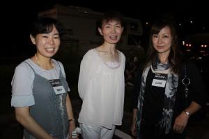 真ん中はナカムラ氏の妹さんです。