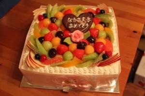 こんなケーキを用意しました