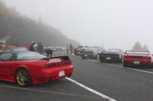 しかもこんな霧だったらたまらんわー