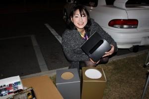 ヒサシさんが抽選箱つくってくれました