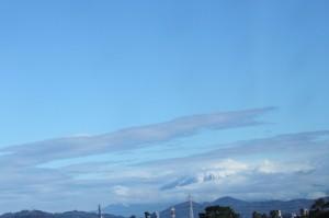 いい天気です。富士山もキレイ