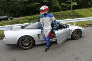 このヘルメットはレースでも使ってるヤツだそうです