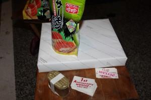 サーモン寿司味とか微妙ですが。香港のおみやげですw
