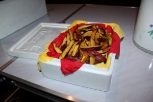 紅あずまで作ったポテト揚げてきました