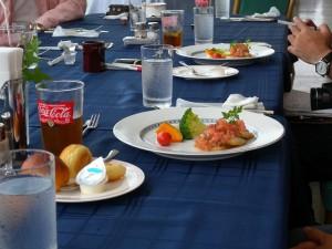 魚はハモのポアレ フレッシュトマトソース