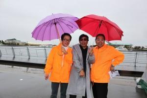 TACHIさん、レフォールさん、やすさん傘がかわいいww