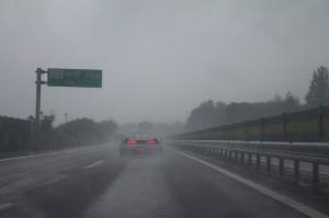 帰り道もひどい雨でしたが