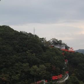 朝めし前にちょっくら撮影。神社がある