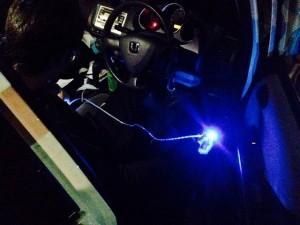 たいきの充電コードLED光りまくり